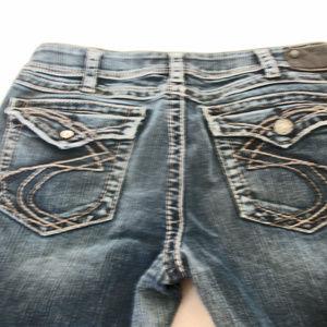 Silver SUKI SURPLUS Flap Pocket Bootcut Jeans